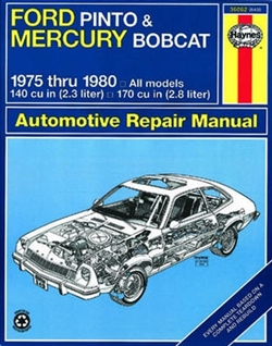 Haynes 36062 Ford Pinto and Mercury Bobcat Repair Manual for 1975 thru 1980