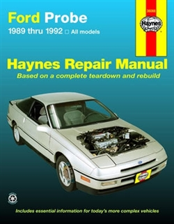 Haynes 36066 Ford Probe Repair Manual Covering All Models Including Turbo for 1989 thru 1992