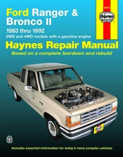 Haynes 36070 Ford Ranger & Bronco Ii Repair Manual for 1983 thru 1992
