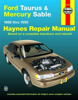 Haynes 36074 Ford Taurus and Mercury Sable Repair Manual Covering All Models for 1986 thru 1995