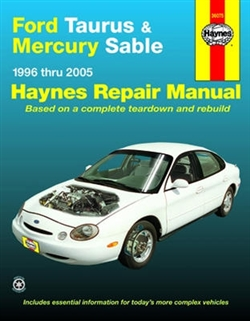 Haynes 36075 Ford Taurus and Mercury Sable Repair Manual for 1996 thru 2005