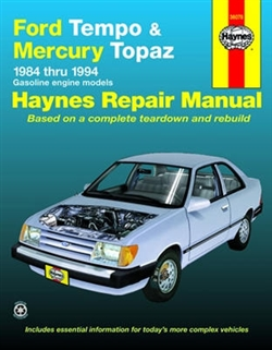 Haynes 36078 Ford Tempo and Mercury Topaz Repair Manual for All 2WD Models for 1984 thru 1994