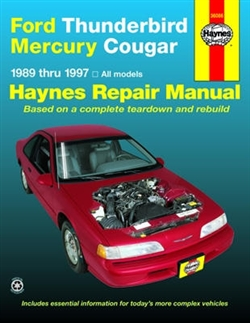 Haynes 36086 Ford Thunderbird and Mercury Cougar Repair Manual for 1989 thru 1997