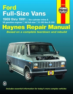 Haynes 36090 Ford Full-Size Vans Repair Manual for 1969 thru 1991