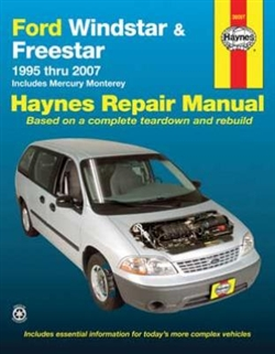 Haynes 36097 Ford Windstar (1995 thru 2003) & Freestar and Mercury Monterey (2004 thru 2007) Repair Manual