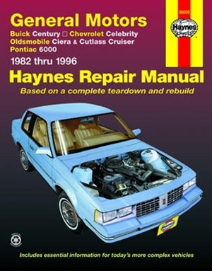 haynes repair manual for general motors 1982 thru 1996 rh themanualstore com Common Problems with Buick Century 1998 Buick Century