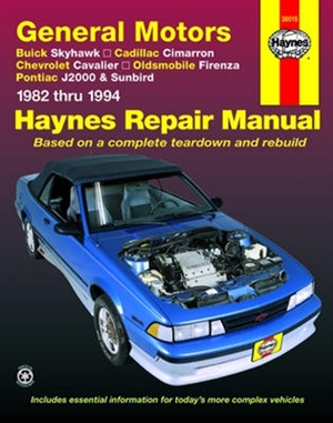 haynes repair manual for general motors 1982 thru 1994 rh themanualstore com Haynes Manual Parts Haynes Catalogue