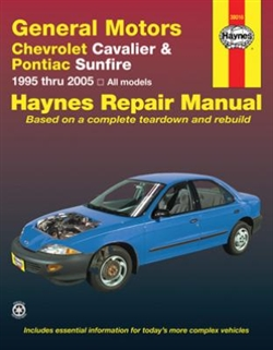 Haynes 38016 General Motors Chevy Cavalier and Pontiac Sunfire Repair Manual for 1995 thru 2005
