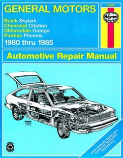 Haynes 38020 General Motors Repair Manual for 1980 thru 1985