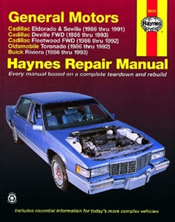 Haynes 38031 General Motors Repair Manual for 1986 thru 1993