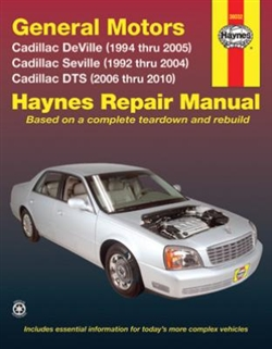 Haynes 38032 General Motors Cadillac Repair Manual for 1992 thru 2004