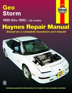 Haynes 40030 Geo Storm Repair Manual Covering All Storm Models from 1990 thru 1993