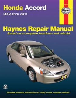 Haynes 42015 Honda Accord Repair Manual Covering All Models from 2003 thru 2011
