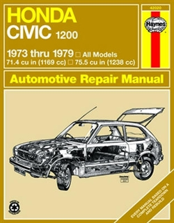 Haynes 42020 Honda Civic 1200 Repair Manual Covering 1973 thru 1979 Models