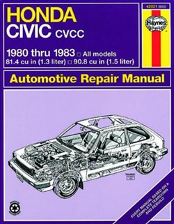 Haynes 42021 Honda Civic CVCC Repair Manual Covering 1980 thru 1983 Models