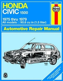 Haynes 42022 Honda Civic 1500 CVCC Repair Manual Covering 1975 thru 1979