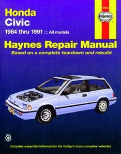 Haynes 42023 Honda Civic, Civic Si, and Civic Wagon Repair Manual Covering 1984 thru 1991 Models
