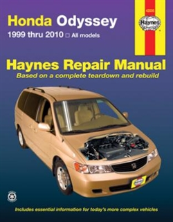 Haynes 42035 Honda Odyssey Repair Manual Covering All Models from 1999 thru 2010