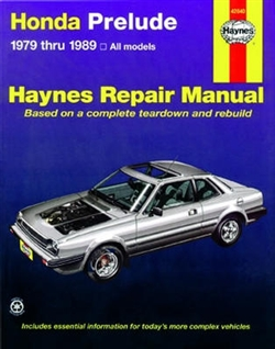 Haynes 42040 Honda Prelude Repair Manual Covering All Prelude CVCC Models from 1979 thru 1989