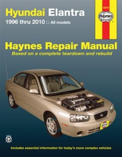 Haynes 43010 Hyundai Elantra Repair Manual Covering All Models 1996 thru 2010