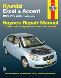 Haynes 43015 Hyundai Excel and Accent Repair Manual Covering All Models 1986 thru 2009