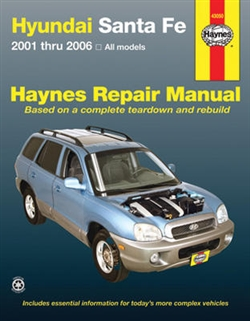 Haynes 43050 Hyundai Sante Fe Repair Manual Covering All Models from 2001 thru 2006