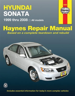 Haynes 43055 Hyundai Sonata Repair Manual for All Models from 1999 thru 2008