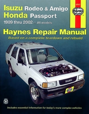 haynes repair manual for isuzu rodeo amigo and honda passport 1989 rh themanualstore com 1998 isuzu trooper repair manual 1998 isuzu trooper repair manual