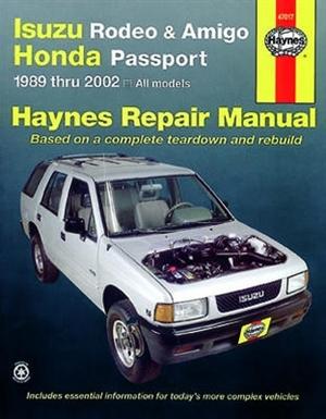 haynes repair manual for isuzu rodeo amigo and honda passport 1989 rh themanualstore com 1996 isuzu rodeo repair manual free 1996 isuzu rodeo repair manual free