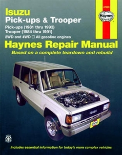 Haynes 47020 Isuzu Pick-Up, Trooper and Trooper LI Repair Manual 1981 thru 1993