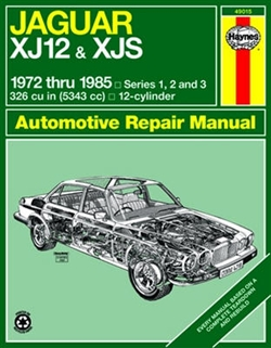 Haynes 49015 Jaguar XJ12 & XJS Repair Manual for 1972 thru 1985