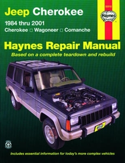 Haynes 50010 Jeep Cherokee Repair Manual for 1984 thru 2001