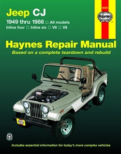 Haynes 50020 Jeep CJ Repair Manual for 1949 thru 1986