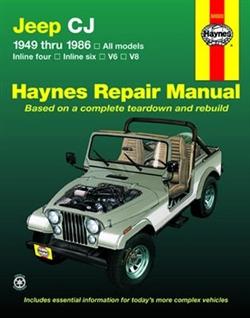 Haynes 50020 Jeep CJ Repair Manual for 1949 thru 1986