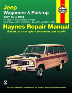 Haynes 50029 Jeep Wagoneer and Pick-Up Repair Manual for 1972 thru 1991