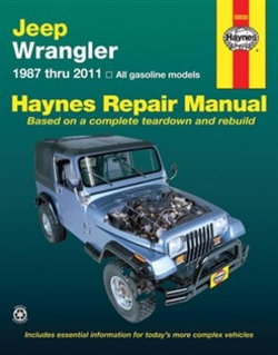 Haynes 50030 Jeep Wrangler Repair Manual for 1987 thru 2011