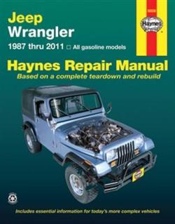 Haynes 50030 Jeep Wrangler Repair Manual for 1987 thru 2011