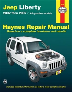 Haynes 50035 Jeep Liberty Repair Manual Covering All Models 2002 thru 2007