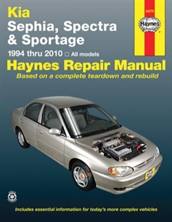 Haynes 54070 Kia Sephia, Spectra and Sportage Repair Manual for 1994 thru 2010