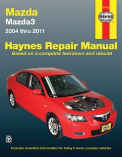 Haynes 61012 Mazda3 Repair Manual for 2004 thru 2011