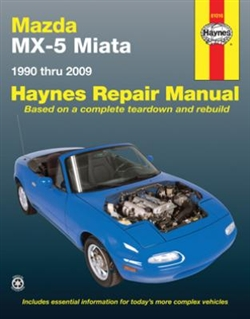 Haynes 61016 Mazda MX-5 Miata Repair Manual for 1990 thru 2009