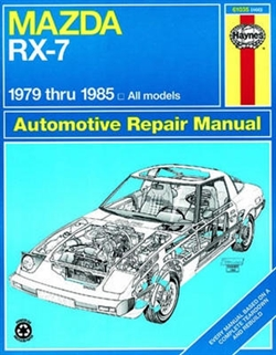 Haynes 61035 Mazda RX-7 Repair Manual for 1979 thru 1985