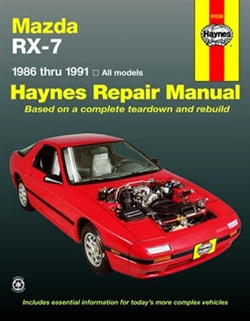 Haynes 61036 Mazda RX-7 Repair Manual for 1986 thru 1991