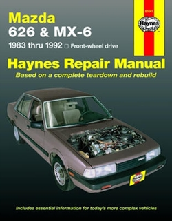 Haynes 61041 Mazda 626 and MX-6 Repair Manual for 1983 thru 1992