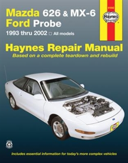 Haynes 61042 Mazda 626, MX-6 & Ford Probe for 1993 thru 2002