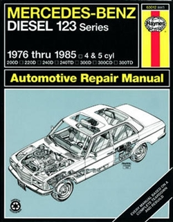 Haynes 63012 Mercedes-Benz Diesel 123 Series Repair Manual for 1976 thru 1985