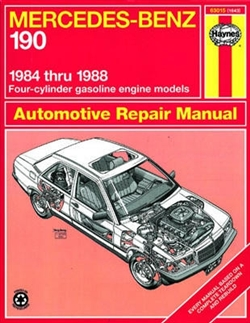 Haynes 63015 Mercedes-Benz 190 Repair Manual for 1984 thru 1988