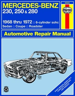 Haynes 63020 Mercedes-Benz 230, 250 & 280 Repair Manual for 1968 thru 1972