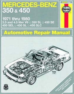 Haynes 63030 Mercedes-Benz 350 and 450 Repair Manual for 1971 thru 1980
