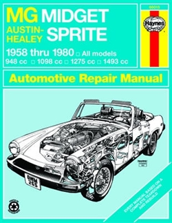 Haynes 66015 MG Midget and Austin-Healy Sprite Repair Manual for 1958 thru 1980